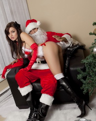 Korina Bliss was a bad girl this year and got a spanking from Santa