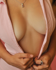 Hailey loves to tease with her big natural tits