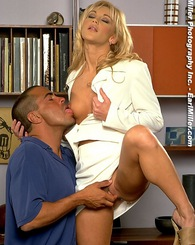 What starts out as business ends in pure XXX pleasure.  The blonde starlet, Dayton, brings explicit arousal to porn stud, Bobby Vitale.  These two hea